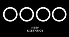 Audi social distance logo